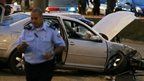 Scene of car attack in Jerusalem (22/10/14)