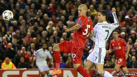 Cristiano Ronaldo's opener against Liverpool
