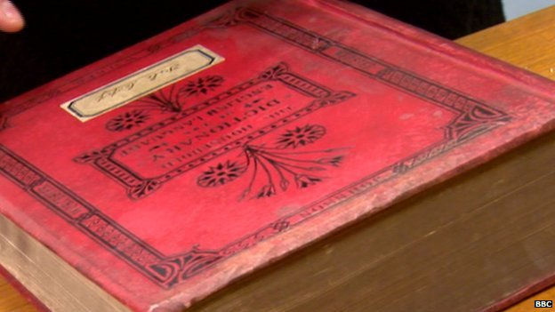 This Collins family dictionary dates from the 1880s