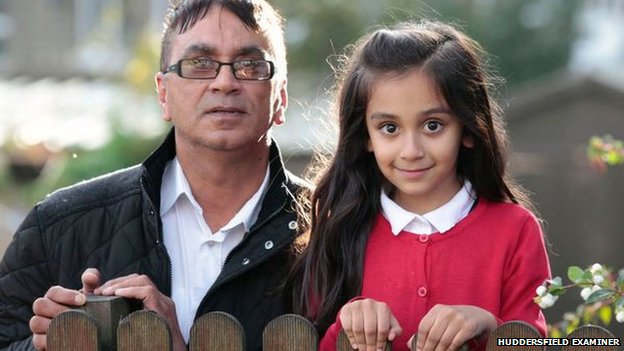 Ikram Hussain and daughter