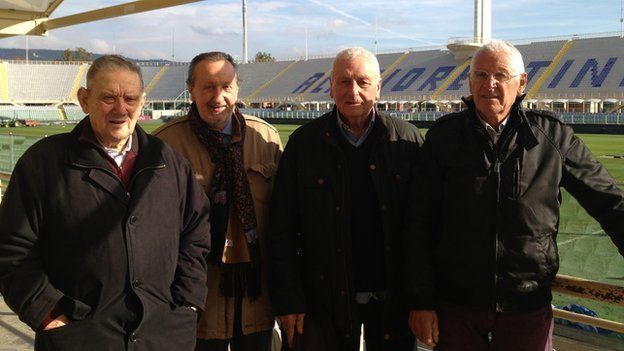 The witnesses reunite at Stadio Artemi Franchi: Ardico Magnini, Gigi Boni, Ronaldo Lomi and Romolo Tuci