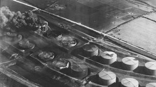The effects of the raid on Pembroke dock oil tanks