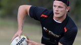 England's Tom Burgess in training for the Four Nations opener against Samoa