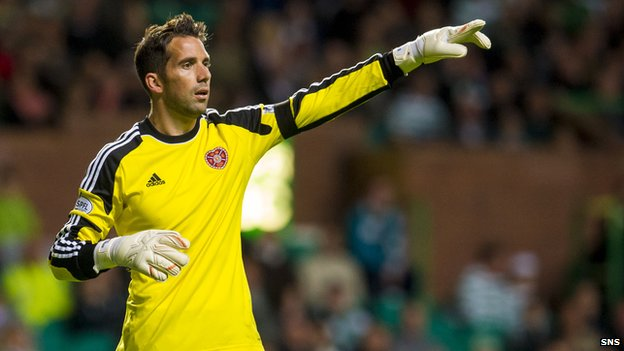 Hearts goalkeeper Neil Alexander