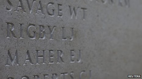 Lee Rigby's name on the memorial