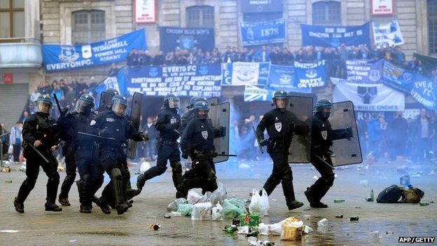 French riot police in Lille