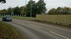 Fence on roundabout at Danes Camp Way, Northampton