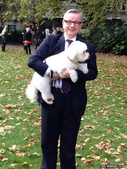 Michael Gove MP and Snowy