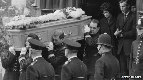 The funeral of the three officers
