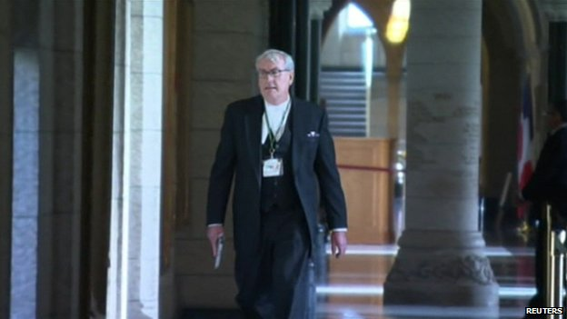 Sergeant-at-Arms Kevin Vickers, seen in Ottawa on 22 October 2014