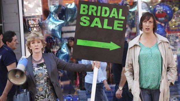Miranda Hart with Patricia Hodge (l) in Miranda