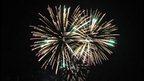 Fireworks over St Peter Port Harbour, Guernsey