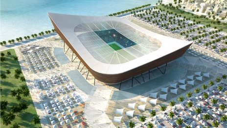 Proposed Qatar 2022 stadium at Madinat Ash Shamal