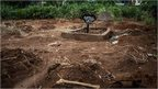 Ebola graves in Freetown in mid-October