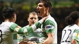 Stefan Scepovic savours his first goal for Celtic after netting the opener against Astra Giurgiu of Romania