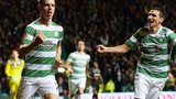 Stefan Johansen and Stefan Scepovic celebrate the former's goal