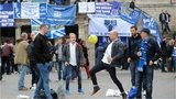 Everton fans ahead of the Europa League match with Lille