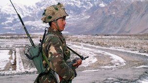 An Indian soldier at Siachen, dubbed the world's highest battlefield