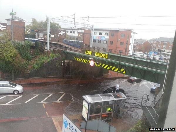 Flooding under bridge