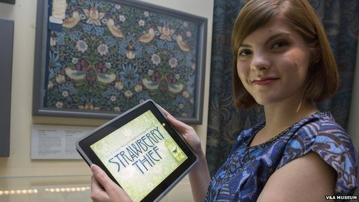 Sophia George poses with the ipad game