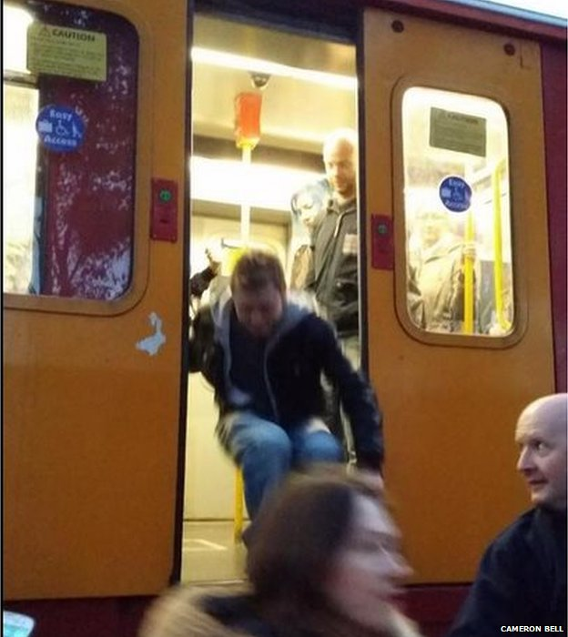 Passengers evacuated