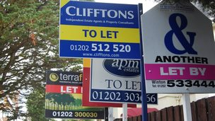 Lettings sign