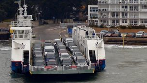 The chain ferry, 'Bramblebush Bay'