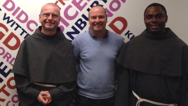 Friar Maximilian, Malcolm Boyden and Friar Benedict