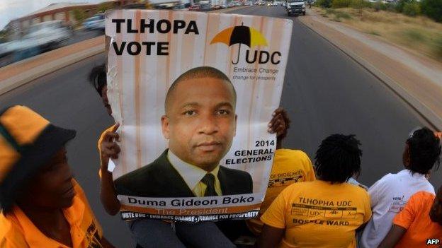 Supporters of Umbrella for Democratic Change (UDC) - 23 October 2014