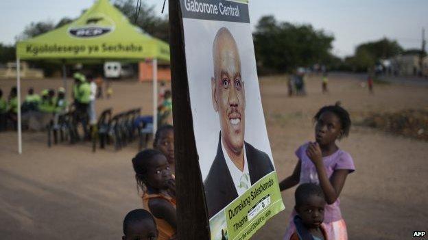 Botswana Congress Party poster in Gaborone - 21 October