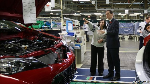 George Osborne at Toyota