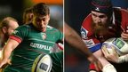 Leicester Tigers' Ben Youngs and Scarlet lock Jake Ball