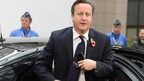 David Cameron arriving in Brussels on Friday