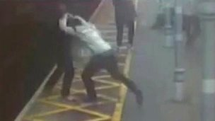 Deafblind man thrown on to railway tracks