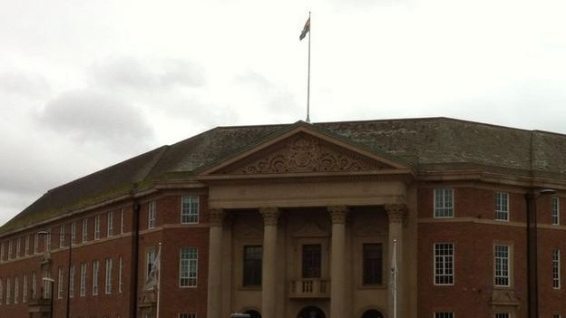 Rainbow flag at Council House