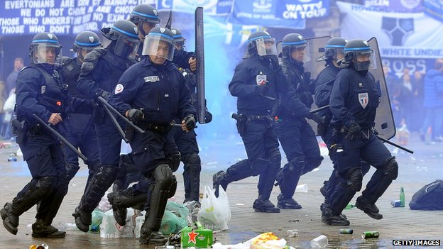 Police in Lille