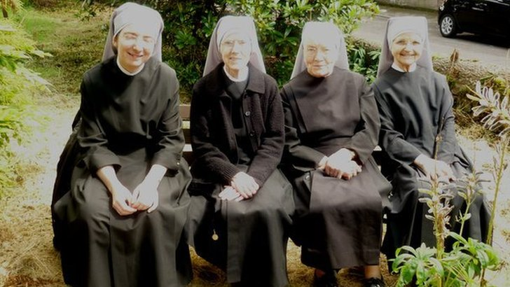 Nuns in a line