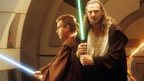 Obi-Wan Kenobi (Ewan McGregor) and Qui-Gon Jinn (Liam Neeson) in Star Wars: The Phantom Menace