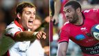 Ulster's Darren Cave and Toulon's Bryan Habana