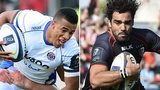 Bath's Anthony Watson and Toulouse Yoann Huget