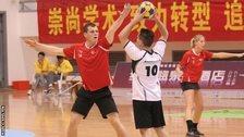 Ben King playing korfball