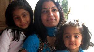 Heena Solanki with her two daughters
