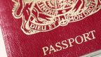 Close up of passport