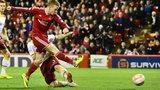 Jonny Hayes shoots Aberdeen in front