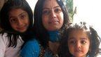 Heena Solanki and her daughters Prisha and Jasmine