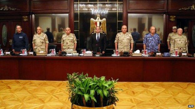 Attacks 'threaten Egypt's existence'...