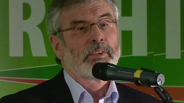Case unfairly politicised says Adams...