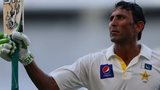Pakistan's Younus Khan celebrates his century