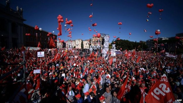 Mass protest over Italy job reforms...