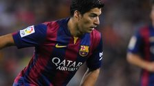 Luis Suarez in action for Barcelona